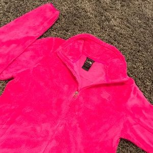 Super soft bright pink North Face jacket